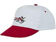 Пятипанельная двухцветная кепка Icarus, белый/красный, фото 4