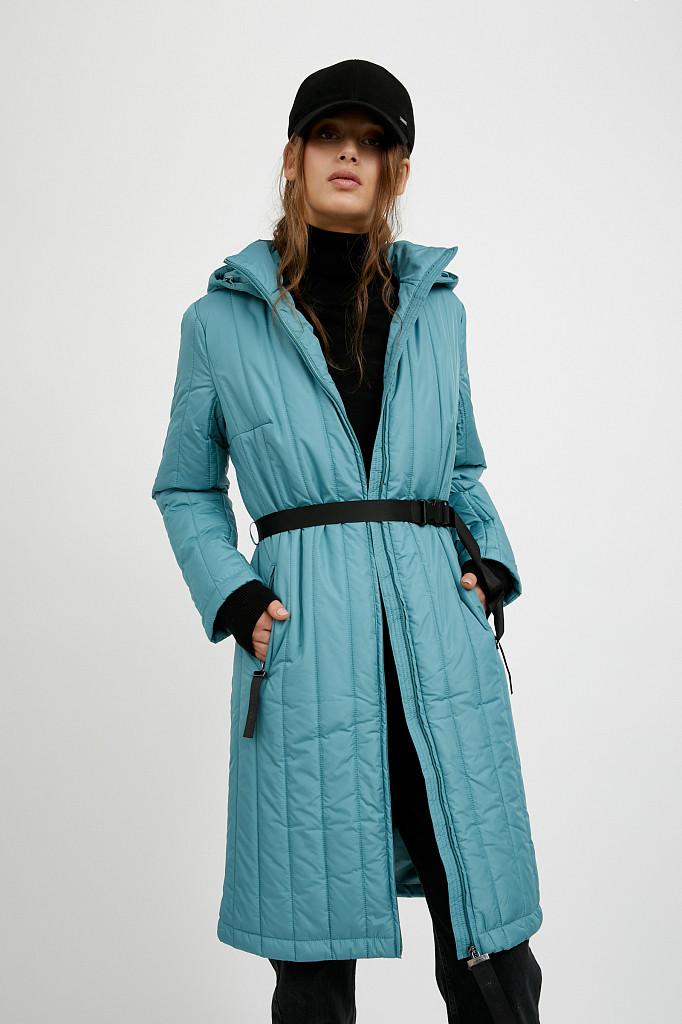 Пальто женское Finn Flare, цвет темно-бирюзовый, размер S - фото 1