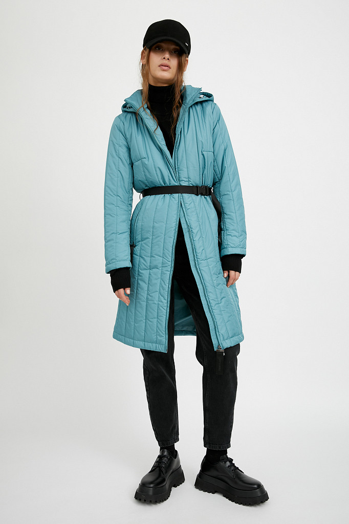 Пальто женское Finn Flare, цвет темно-бирюзовый, размер S - фото 2