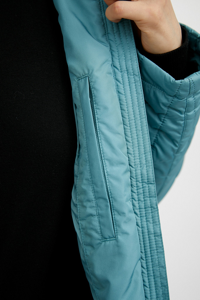 Пальто женское Finn Flare, цвет темно-бирюзовый, размер S - фото 3