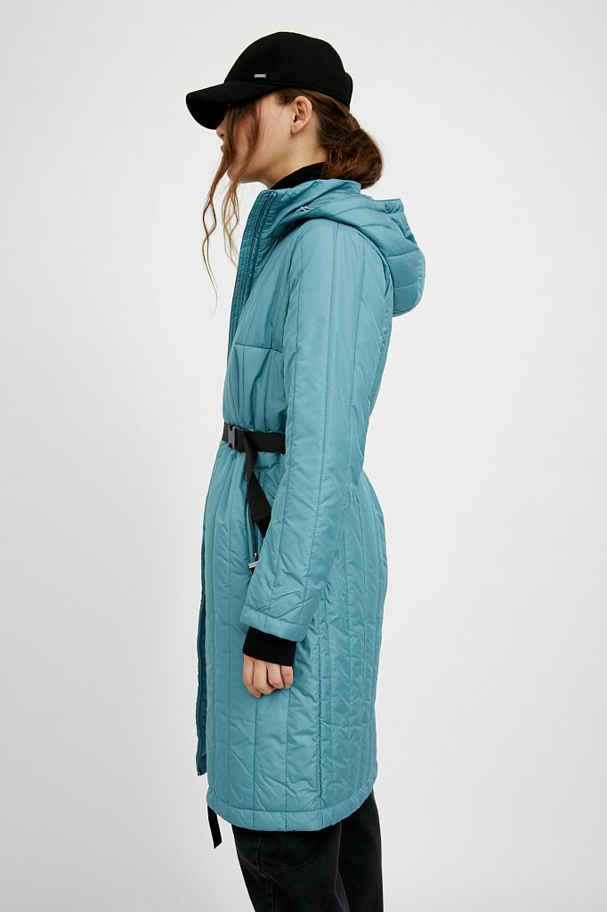 Пальто женское Finn Flare, цвет темно-бирюзовый, размер S - фото 4