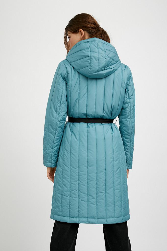 Пальто женское Finn Flare, цвет темно-бирюзовый, размер S - фото 6