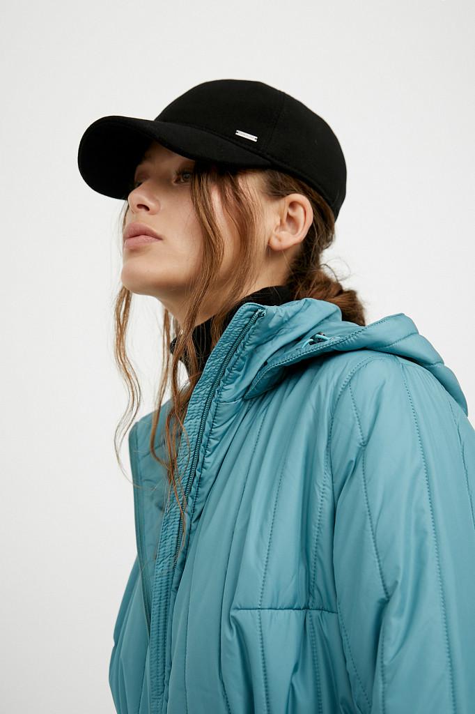 Пальто женское Finn Flare, цвет темно-бирюзовый, размер S - фото 8