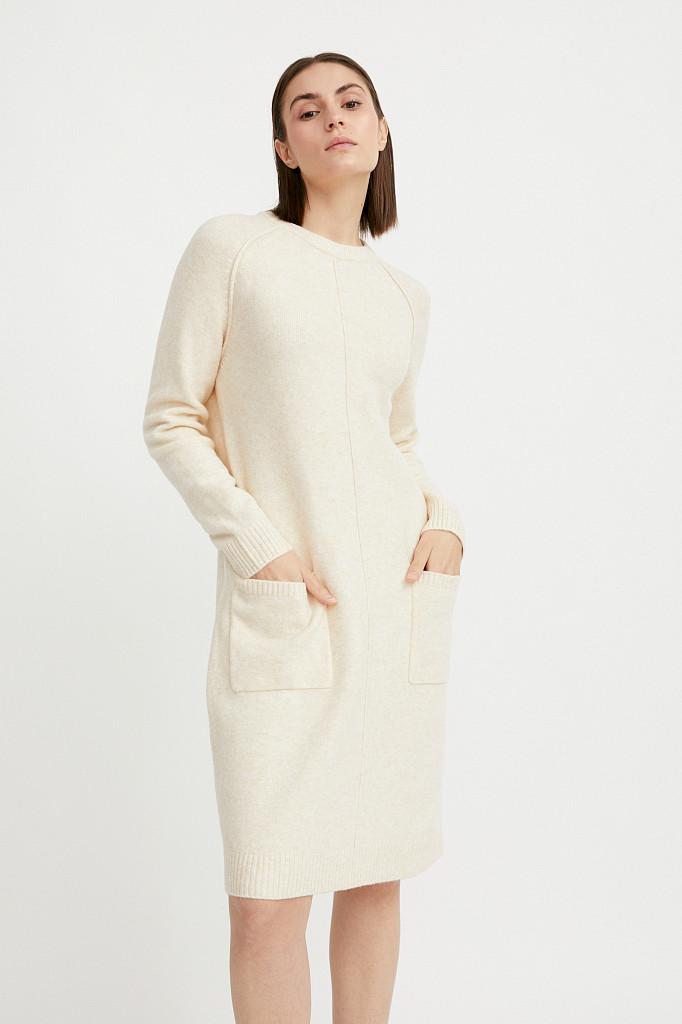 Платье женское Finn Flare, цвет молочный, размер XS - фото 2