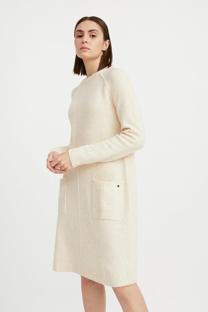 Платье женское Finn Flare, цвет молочный, размер XS - фото 3