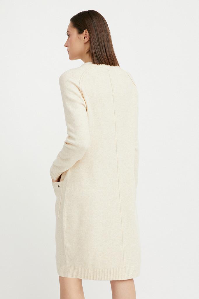 Платье женское Finn Flare, цвет молочный, размер XS - фото 4