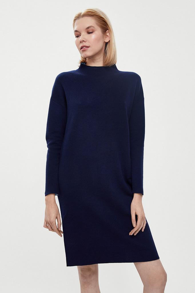 Платье женское Finn Flare, цвет темно-синий, размер XS - фото 2