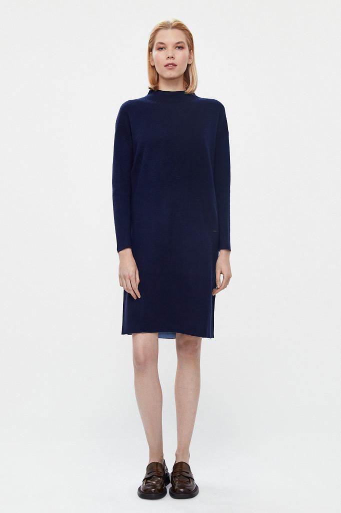 Платье женское Finn Flare, цвет темно-синий, размер XS - фото 3