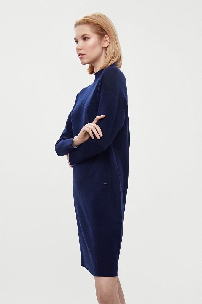 Платье женское Finn Flare, цвет темно-синий, размер XS - фото 4