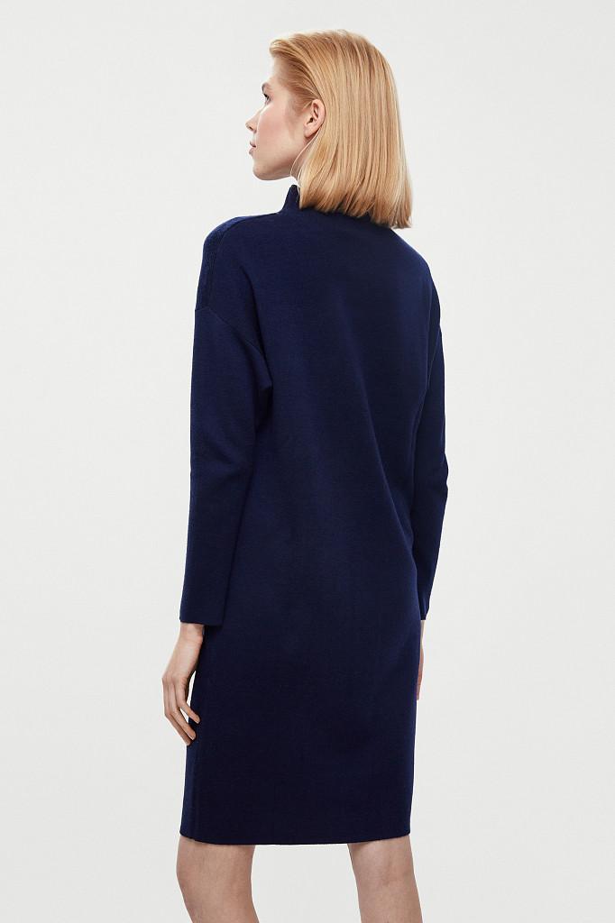 Платье женское Finn Flare, цвет темно-синий, размер XS - фото 5