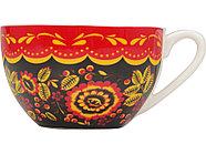 Набор Моя Россия: чайно-кофейная пара Матрешка, хохлома и книга Россия на англ. языке, фото 5