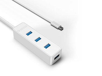 USB-концентратор Orico W5PH4-C3-10 (Type-C4xUSB3.0) (белый)