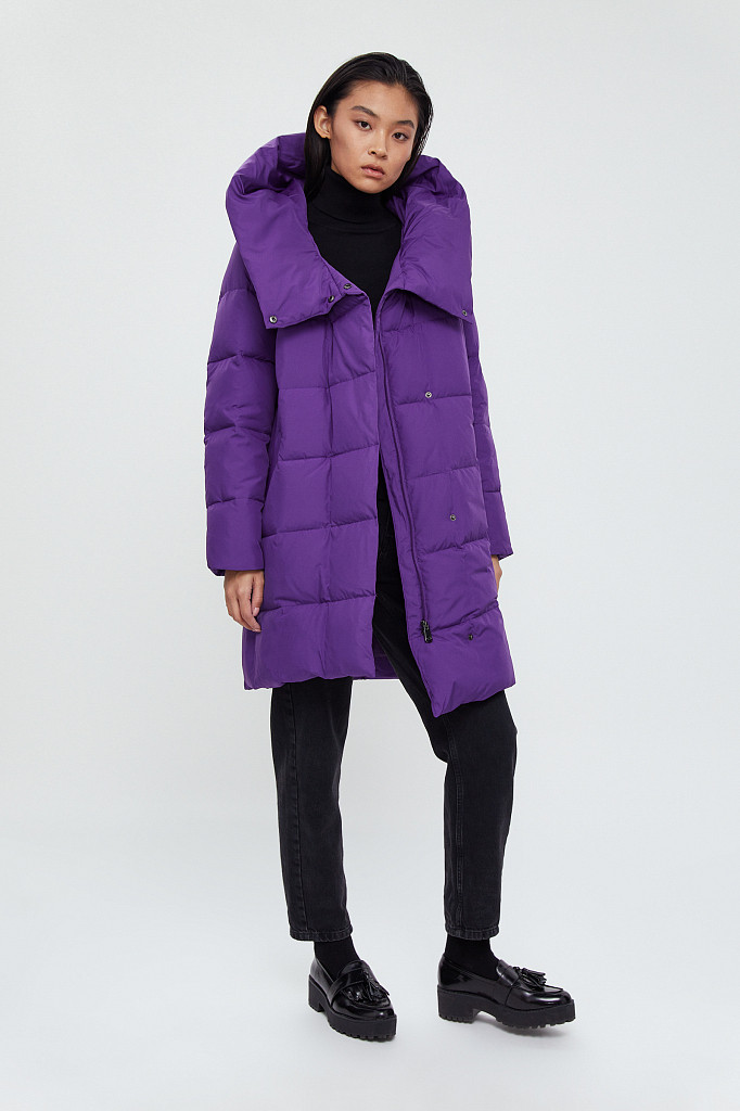 Пальто женское Finn Flare, цвет garza (сиреневый), размер 2XL - фото 1