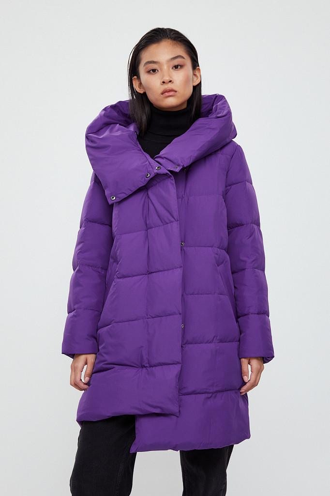 Пальто женское Finn Flare, цвет garza (сиреневый), размер 2XL - фото 2