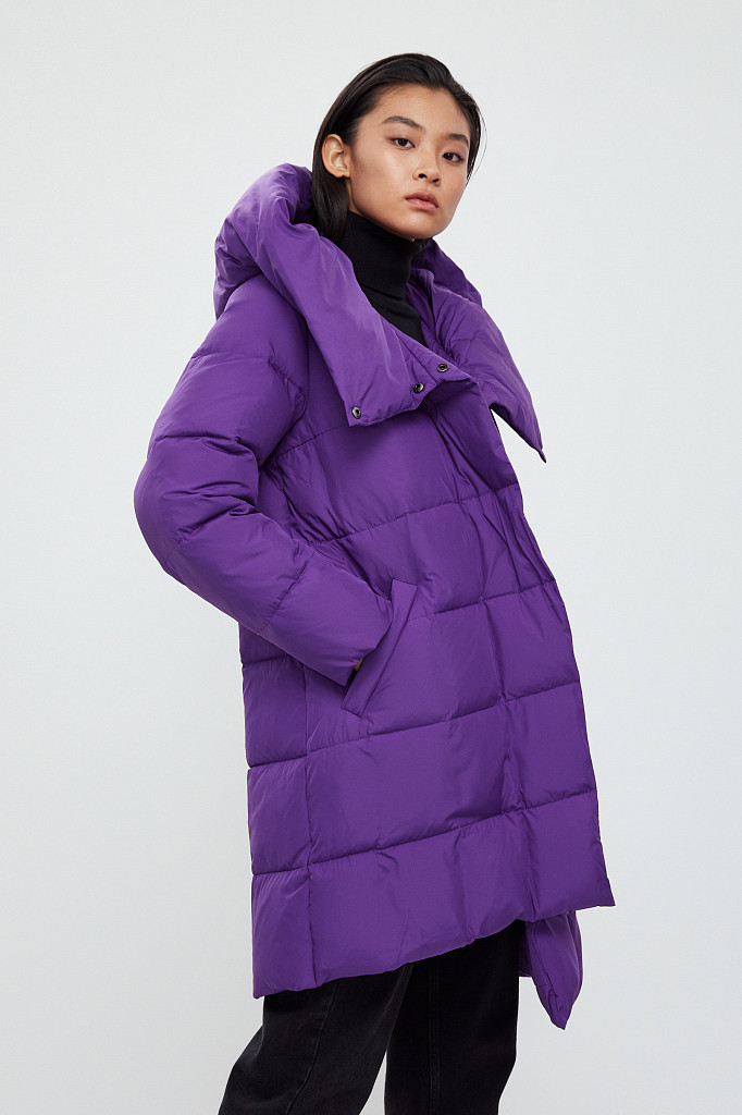 Пальто женское Finn Flare, цвет garza (сиреневый), размер 2XL - фото 3