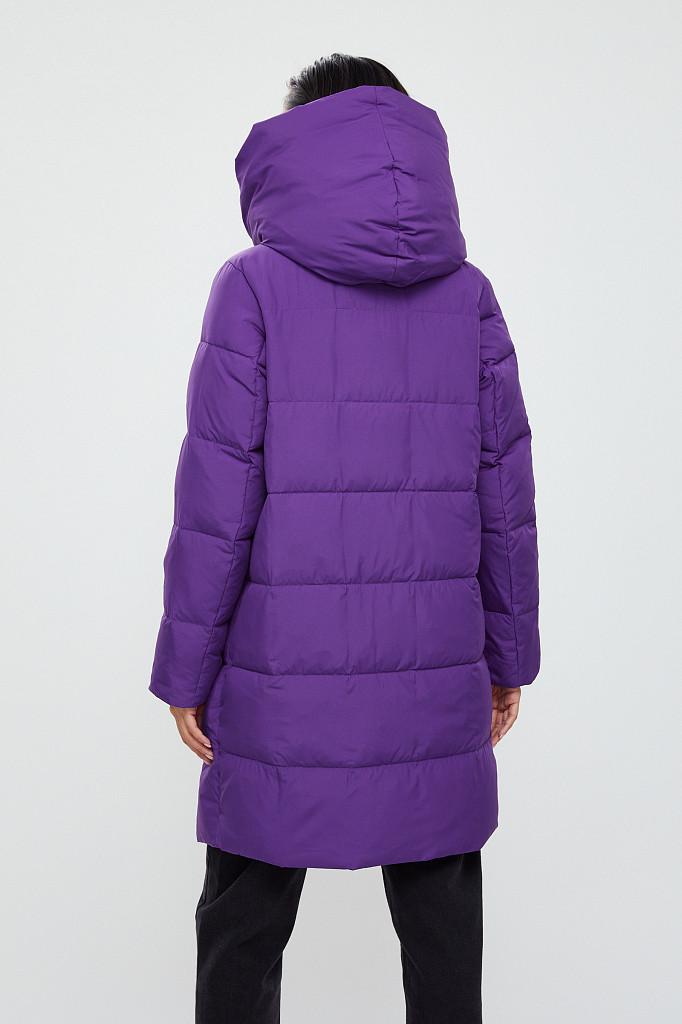 Пальто женское Finn Flare, цвет garza (сиреневый), размер 2XL - фото 4