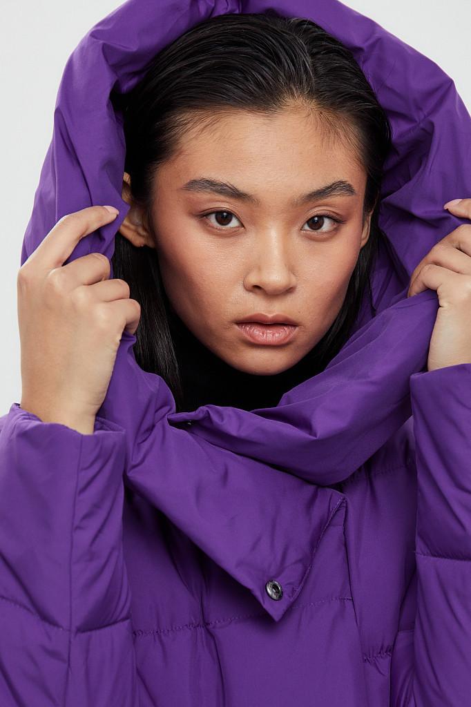 Пальто женское Finn Flare, цвет garza (сиреневый), размер 2XL - фото 6