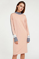 Платье женское прямого силуэта с шерстью Finn Flare, цвет светло-розовый, размер 2XS