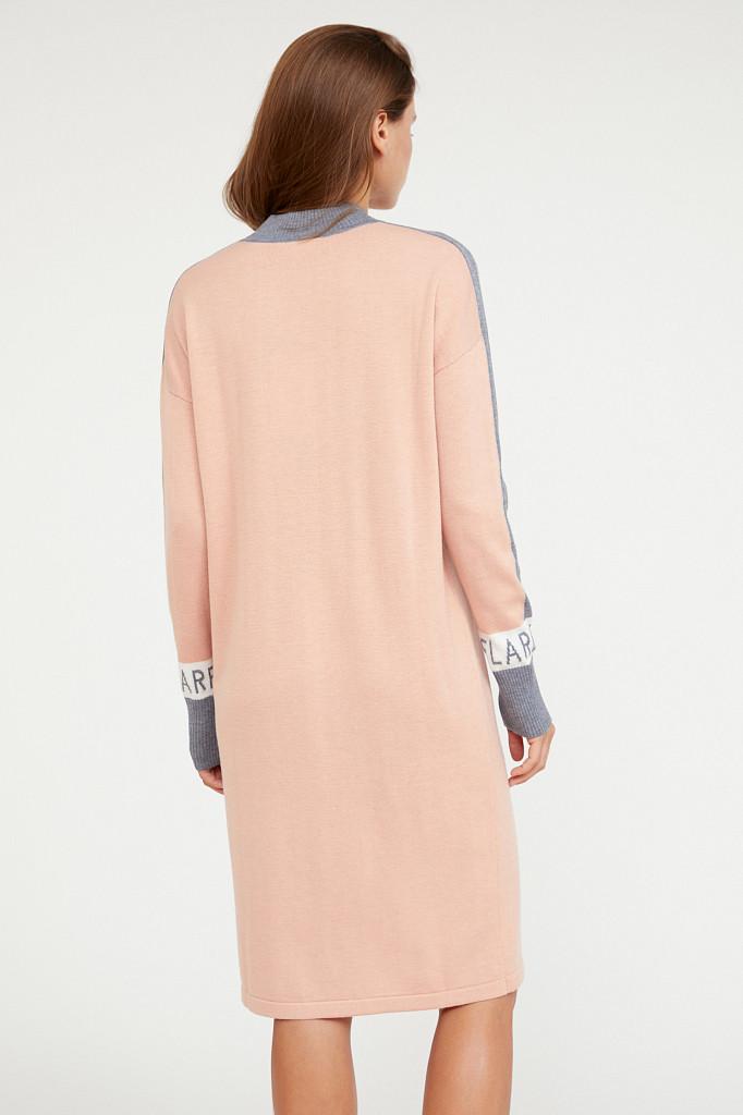 Платье женское Finn Flare, цвет светло-розовый, размер XS - фото 4