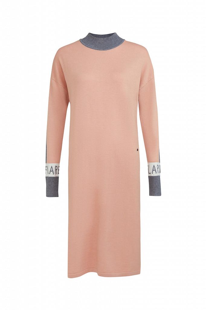 Платье женское Finn Flare, цвет светло-розовый, размер XS - фото 6
