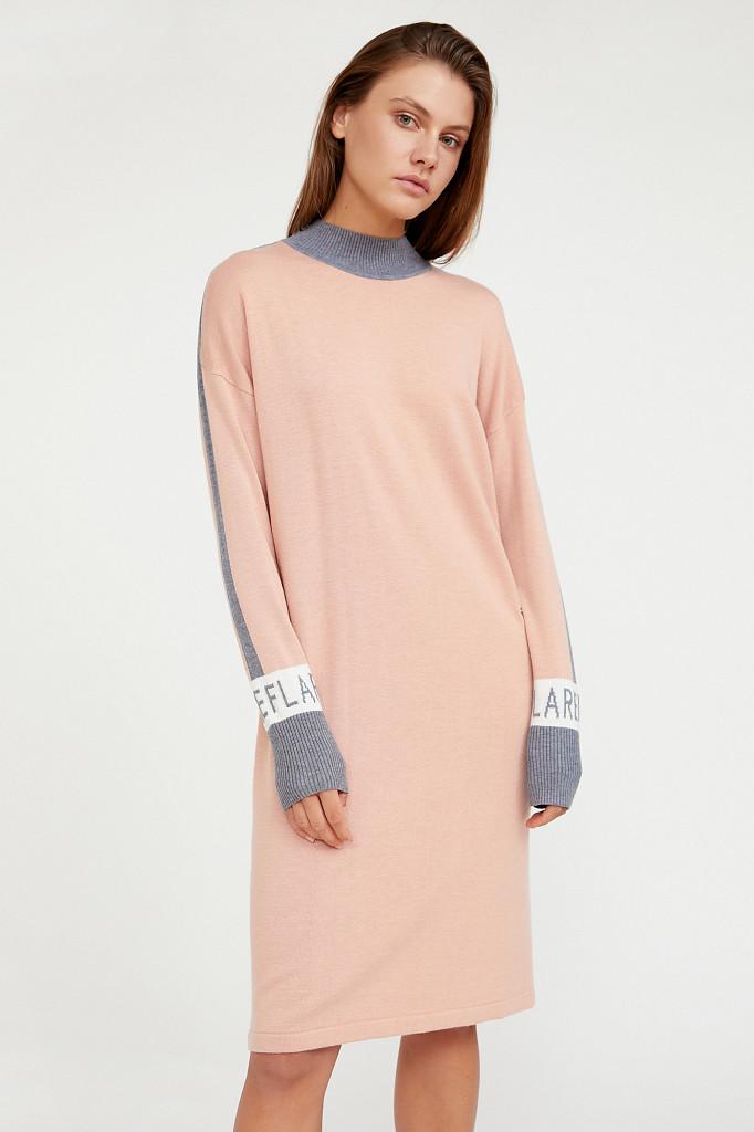 Платье женское Finn Flare, цвет светло-розовый, размер L - фото 1