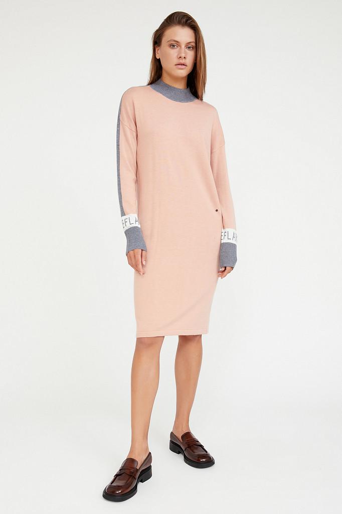 Платье женское Finn Flare, цвет светло-розовый, размер L - фото 2