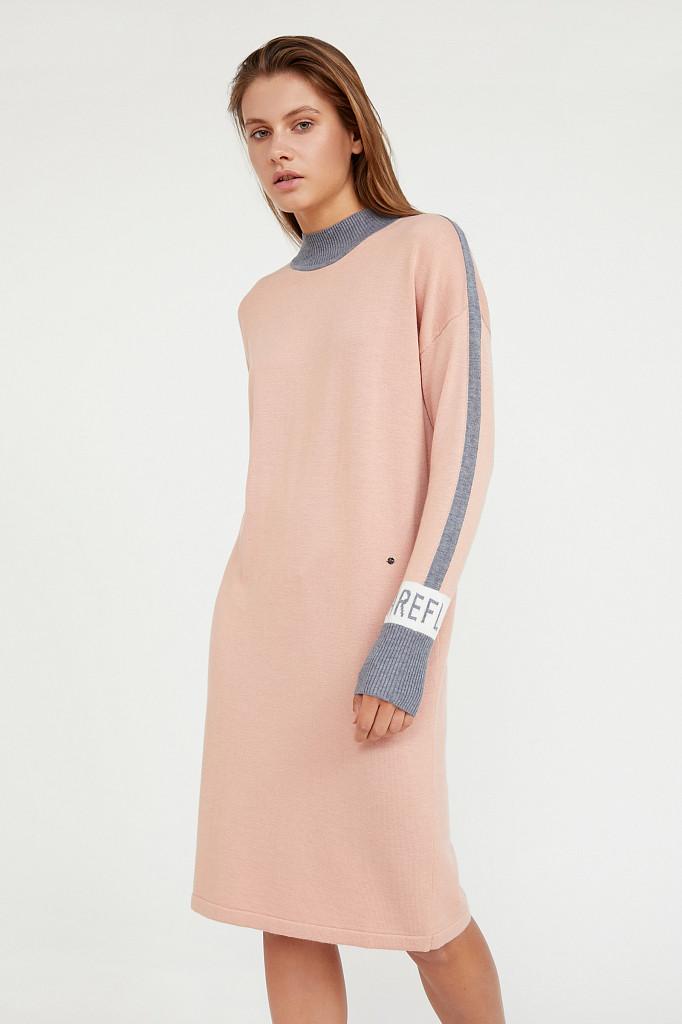 Платье женское Finn Flare, цвет светло-розовый, размер L - фото 3