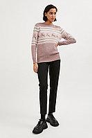 Джемпер женский Finn Flare, цвет серо-розовый, размер 2XL