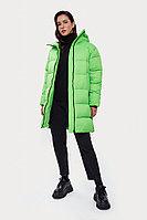 Пальто женское Finn Flare, цвет неоновый зеленый, размер XS