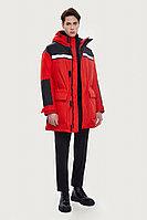 Пальто мужское Finn Flare, цвет темно-красный, размер 2XL