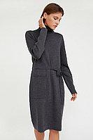 Платье женское с шерстью, воротником и карманами Finn Flare, цвет серый, размер M