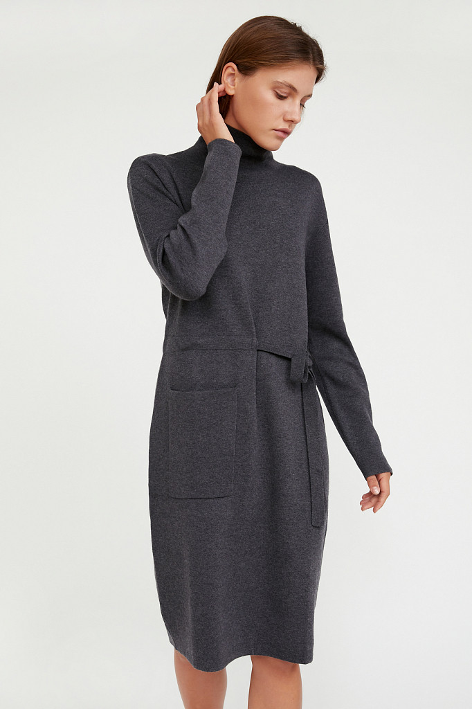 Платье женское Finn Flare, цвет серый, размер M - фото 1
