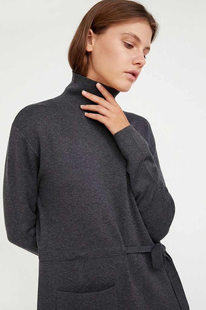 Платье женское Finn Flare, цвет серый, размер S - фото 5