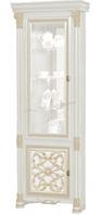 Витрина 1Д (с зеркалом) GRANDA СКАЙ (Белый/Золото)