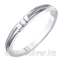 Кольцо Джунаид серебро с родием, фианит 4К-5217-04