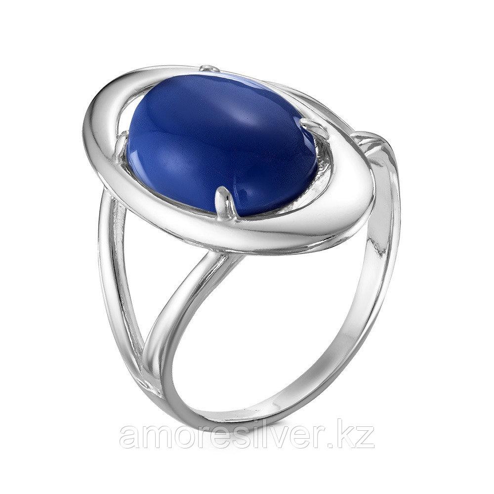 Кольцо Красная пресня серебро с родием, сапфир иск., , овал 23610148Д4 размеры - 18