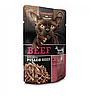 Leonardo Beef Extra Pulled Beef паштет и кусочки говядины в мясном бульоне