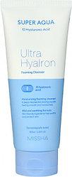 Увлажняющая пенка с гиалуроновой кислотой Missha Super Aqua Ultra Hyalron Cleansing Foam 100 мл