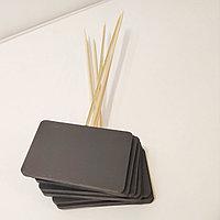 Ценник черный, меловый размером с визитку