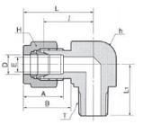 Ввертной угольник DLM-R, фото 2