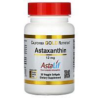 California Gold Nutrition, астаксантин,12 мг, 30 растительных таблеток