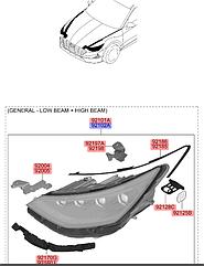 ФАРА RH (GENERAL+LOW BEAM+HIGH BEAM) HYUNDAI SONATA 19-