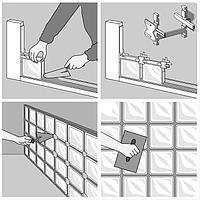 Крестики для стеклоблоков(19*19*8) 1см 702030