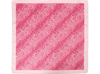 Платок розовый 500*515 мм в подарочном мешке