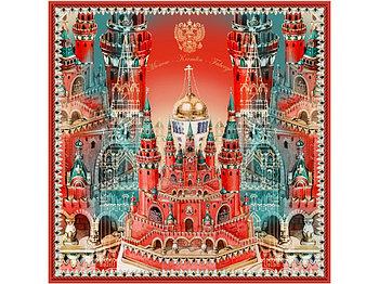 Платок Кремль - Москва - Фаберже
