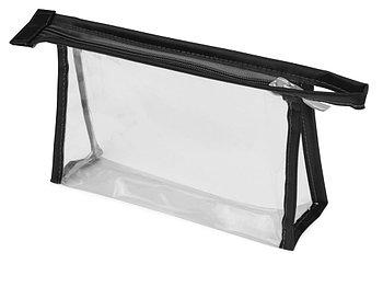 Прозрачная пластиковая косметичка Lucy, черный