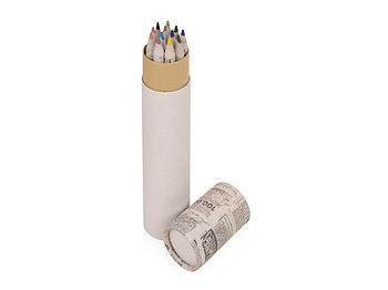 Набор цветных карандашей из газетной бумаги в тубе News, 12шт.