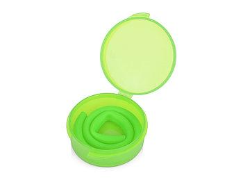 Силиконовая трубочка Fresh в пластиковом кейсе, зеленое яблоко