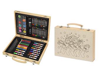 Набор для рисования из 67 предметов в чемодане с рождественским рисунком