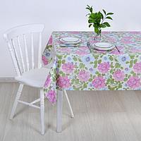 Клеёнка столовая на тканой основе «Цветы», 1,25×25 м